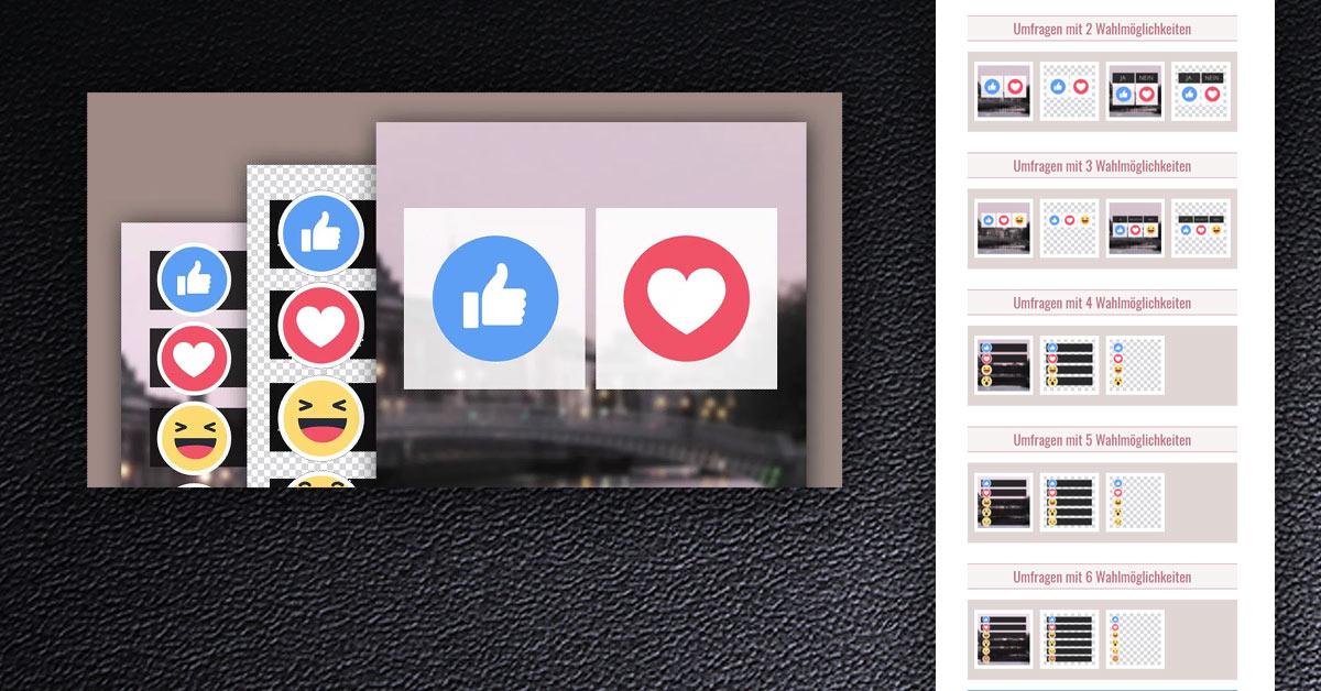 Noch mehr Post-Vorlagen für Ihre Facebook Umfragen